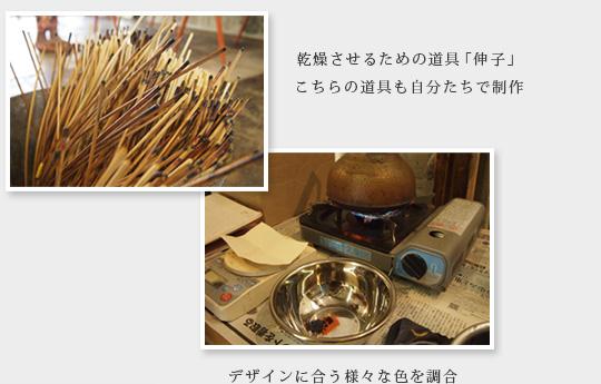乾燥させるための道具も自分たちで制作