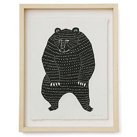 型染め和紙 踊るクマ