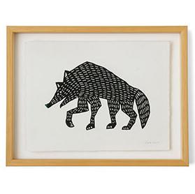 型染め和紙 オオカミ
