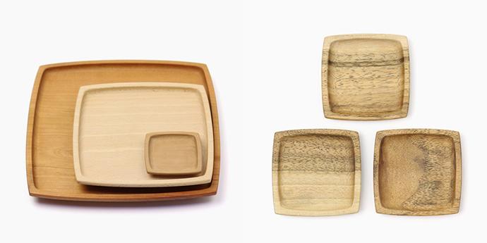 ▲(写真右側)マサチロ雑貨店/胴張プレート2寸(8種)