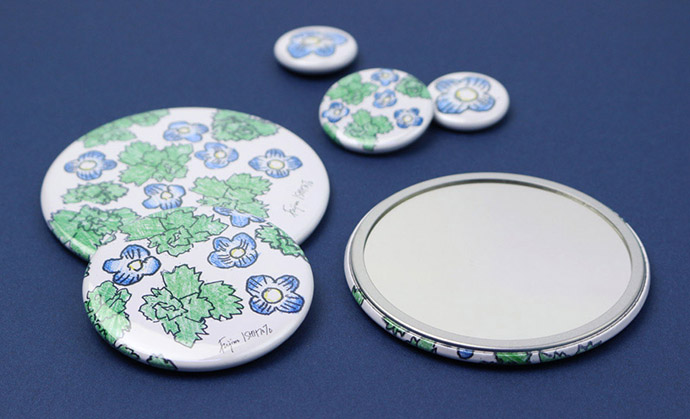 石本藤雄展/マグネット、ポケットミラー