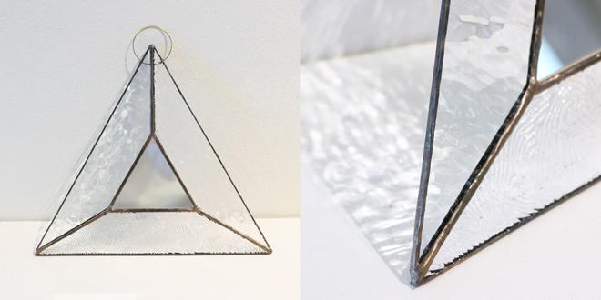 vivo stained glass works ビーボステンドグラス/壁掛ミラー TRIANGLE