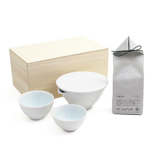 「+S」/茶器・うきはの山茶 有機煎茶 ギフトセット