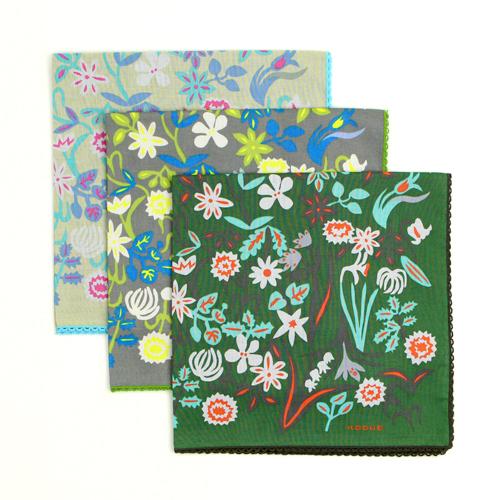 ひびのこづえ/ハンカチ 「春の花」 (3種)
