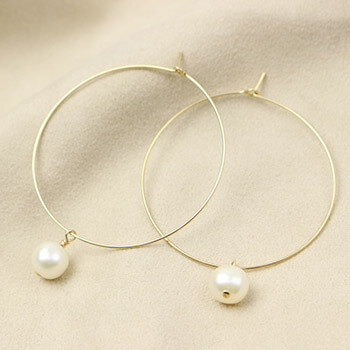 RIVA GOSSI/ピアス CANDY Hoop L Pearl