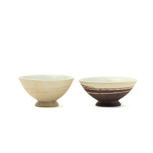 めし碗 浅小(2色)