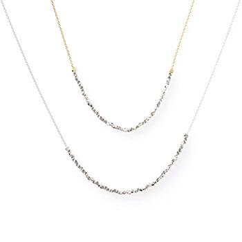 sumikaneko スミカネコ/square beads necklace スクエアビーズ ネックレス(2種)