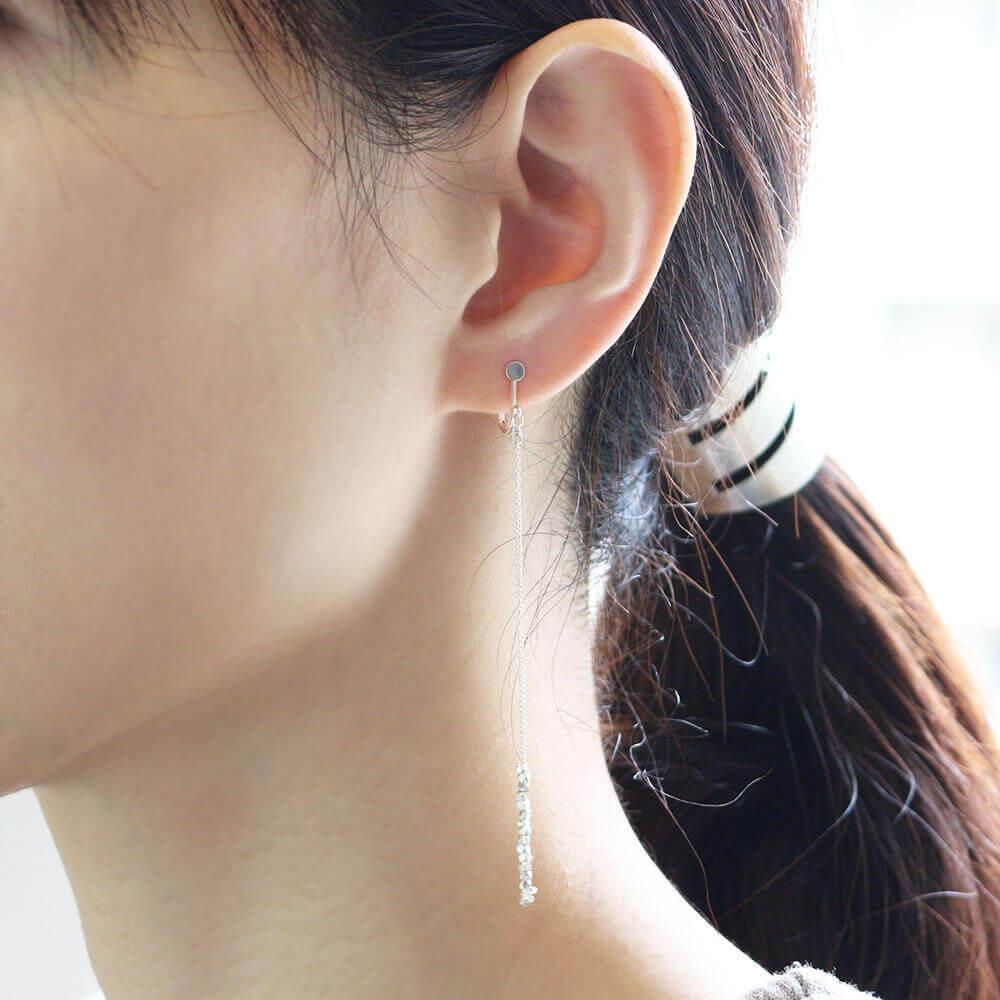 sumikaneko スミカネコ/square beads earring スクエアビーズ イヤリング(2種)
