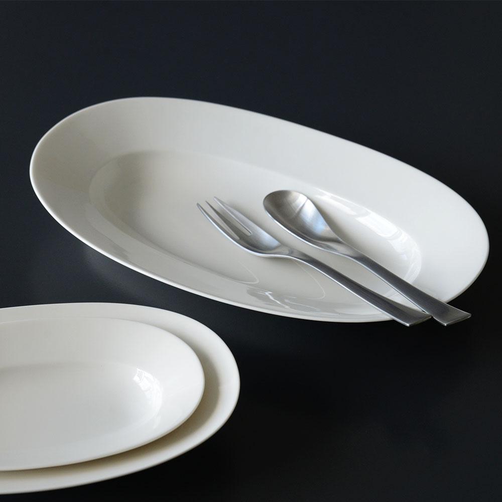 イイホシユミコ yumiko iihoshi porcelain/「oval plate オーバルプレート」dew white(S・M・L)
