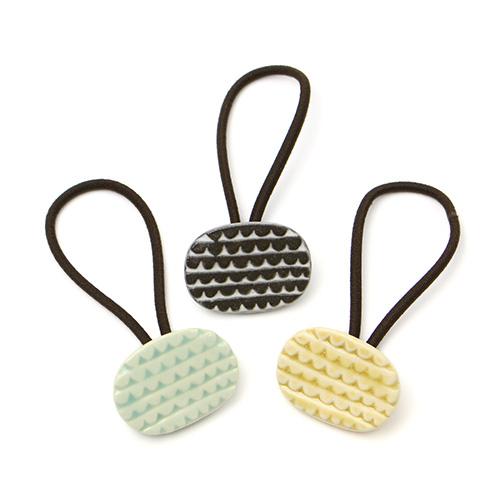 patterned mini ヘアゴム C