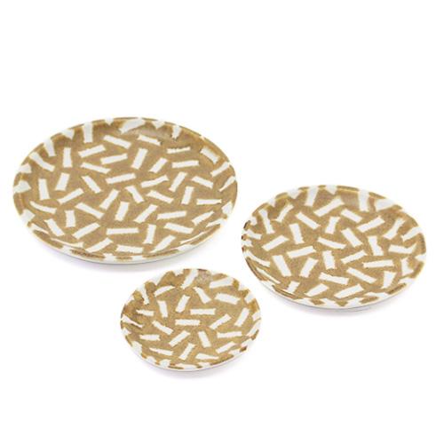 パターン皿 白茶 3サイズ