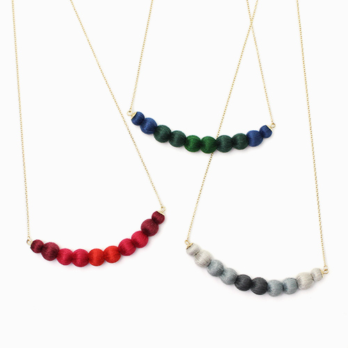 ネックレス「tsuranari necklace」(3色)