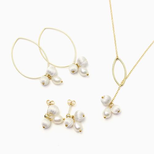 ピアス・ネックレス「mitsubu pierce・necklace」