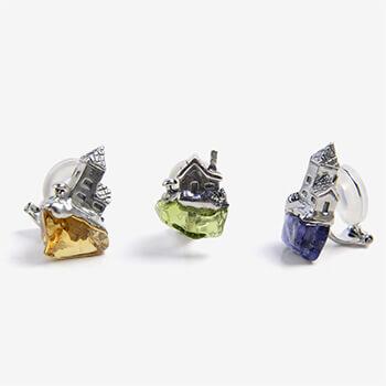 roca earring ロカ イヤリング シルバー(シングル8種)