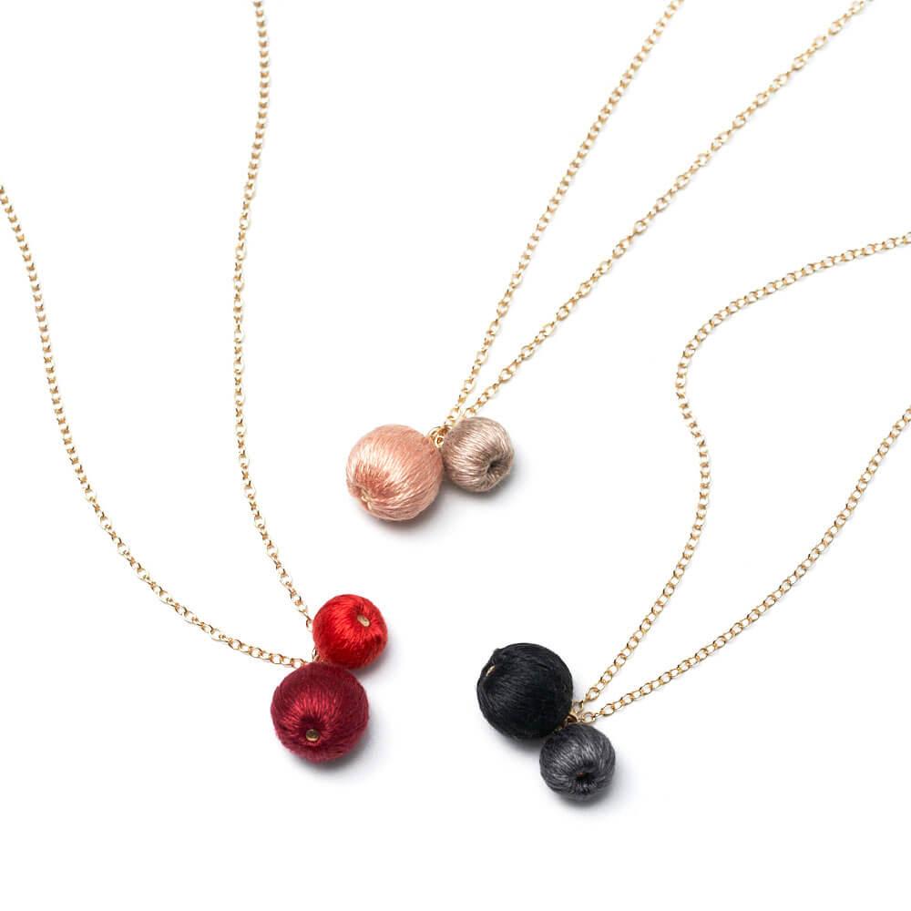 ネックレス「futatsubu necklace」(3色)