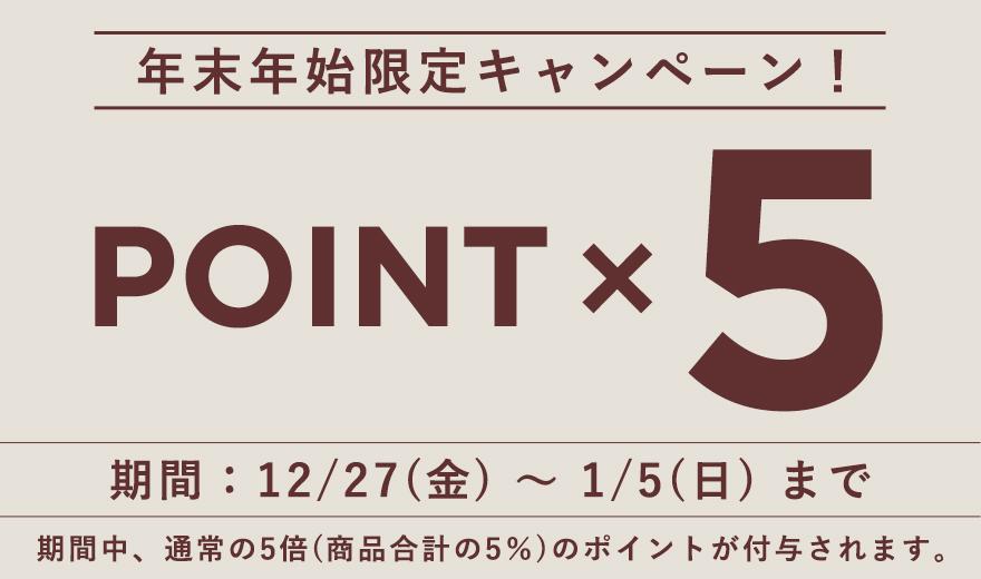年末年始限定 ポイント5倍キャンペーン!